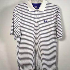 Under Armor Heat Gear striped polo shirt